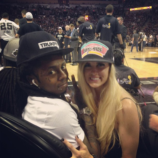 Lil Wayne Games For Ps3 : Lil wayne attends san antonio spurs vs miami heat game in