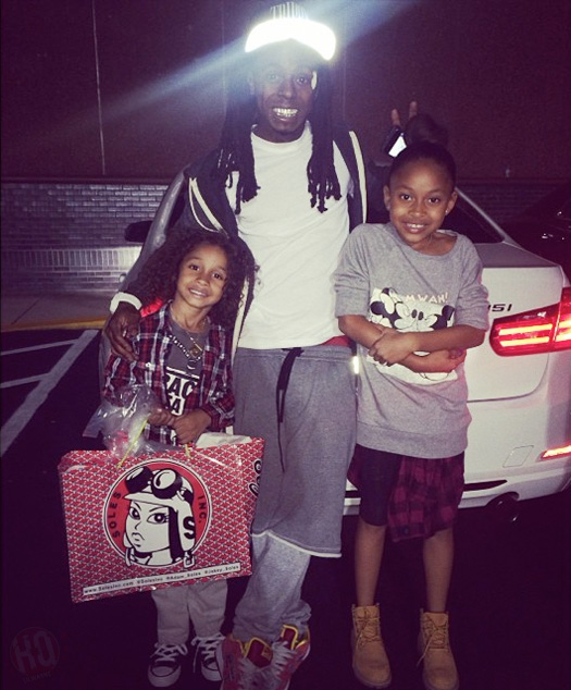 Lil Wayne & Sarah Vivan Take Their Son Dwayne Michael Carter III Bowling For His 6th Birthday