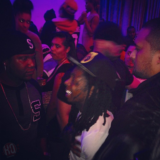 Lil Wayne Attends Sean Kingston Birthday Bash At Supperclub In Hollywood