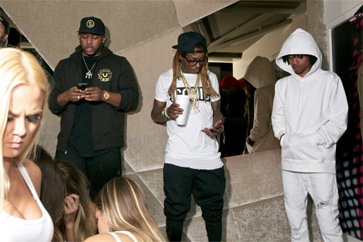 Lil Wayne Attends Shay Nightclub In Chicago With His Young Money Artists