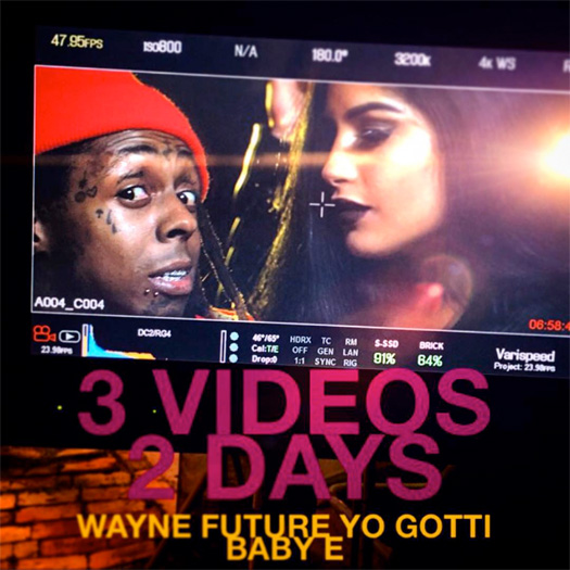 Lil Wayne To Shoot A Music Video For Cross Me With Future & Yo Gotti