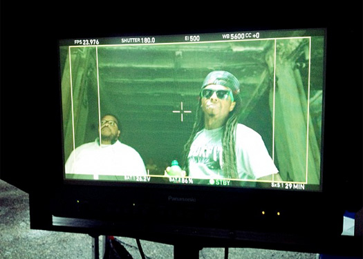 Lil Wayne Shoots DEWeezy Commercial