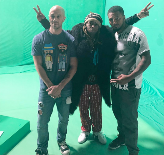 Lil Wayne Shoots A Green Screen Music Video For A Tha Carter V Song In Miami With A Camel