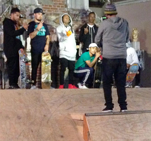 Lil Wayne Hits Up Sk8 Liborius In St Louis, Missouri For A Skating Session