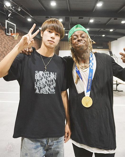 Lil Wayne Has A Skateboarding Session With 2020 Olympics Winner Yuto Horigome