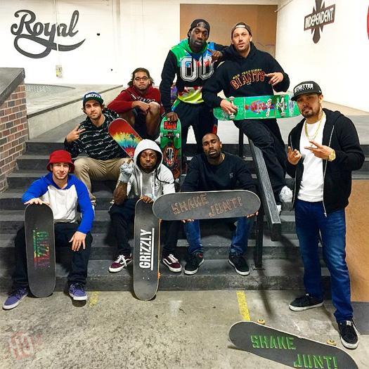 Lil Wayne Goes Skating At Brandon Biebel Los Angeles Skatepark With Stevie Williams & Others