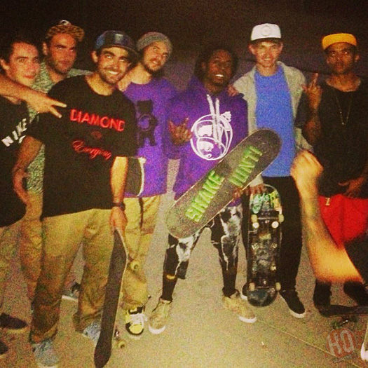 Lil Wayne Goes Skating At Griffith Park In Los Angeles With The Grizzly Gang Crew