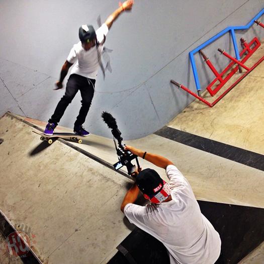 Lil Wayne Goes Skating At Paul Rodriguez Private Skate Park In Los Angeles