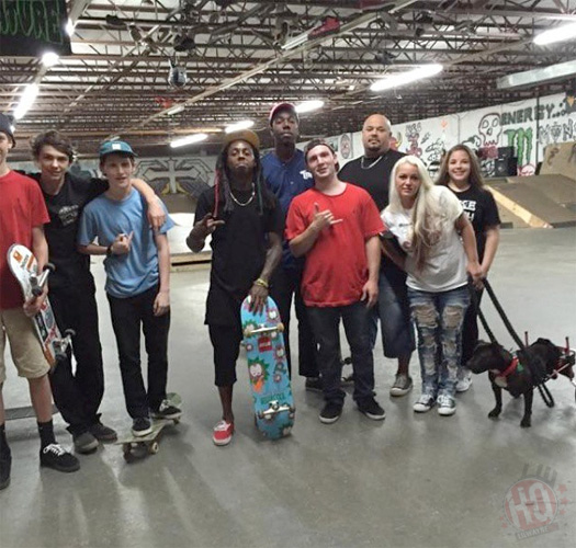 Lil Wayne Has A Skating Session At HIC Warehouse Indoor Skatepark In South Carolina