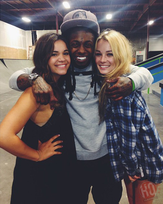 Lil Wayne Has A Skating Session With Nyjah Huston In California, Takes Photos With Fans
