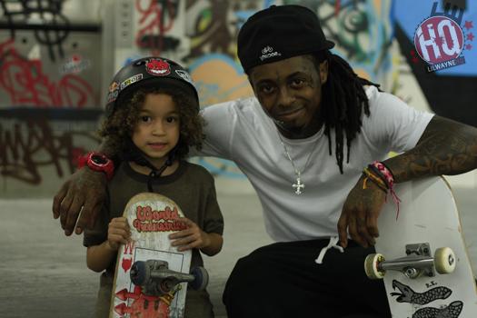 Lil Wayne Skating With Jacob Christopher