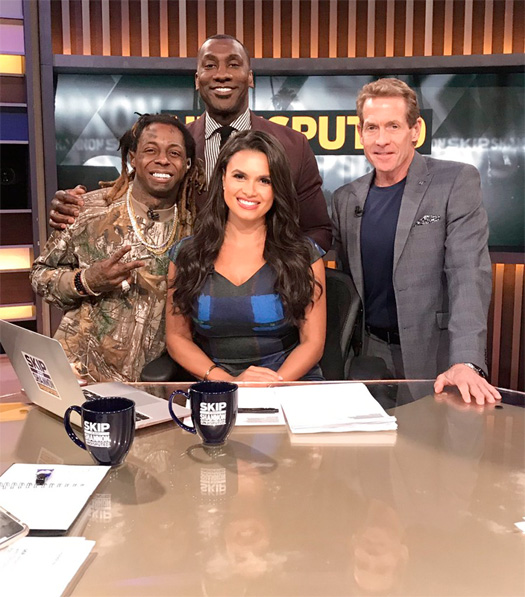 Lil Wayne Appears On Skip And Shannon UNDISPUTED, Talks Green Bay Packers, Kyrie Irving, New Orleans Saints, Atlanta Falcons & More