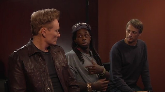 Lil Wayne Tells A Snowboarding Story To Conan O'Brien & Tony Hawk In A Clueless Gamer Deleted Scene