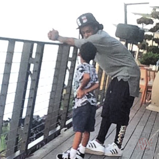 Lil Wayne Takes His Son Cameron Carter To Japanese Restaurant Nobu Malibu For His 6th Birthday