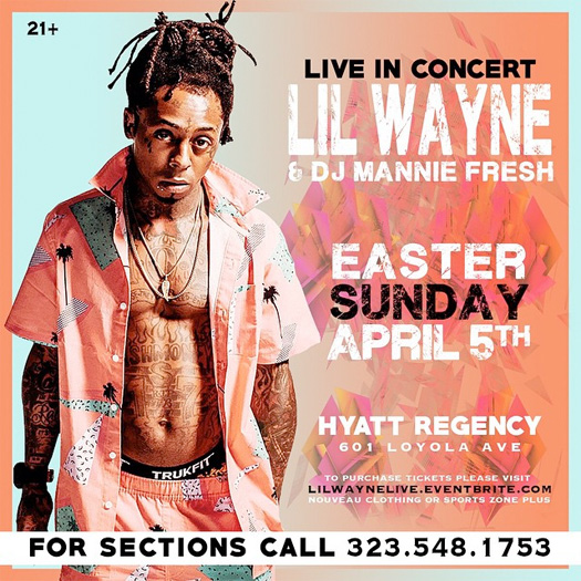Lil Wayne To Host A Sorry 4 The Wait 2 Party With Mannie Fresh In New Orleans On Easter