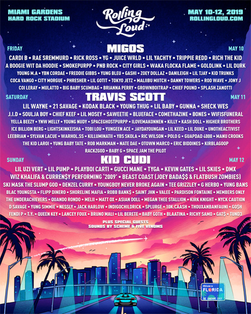 Lil Wayne, Soulja Boy, Travis Scott, Young Thug & More To Headline 2019 Rolling Loud Music Festival In Miami