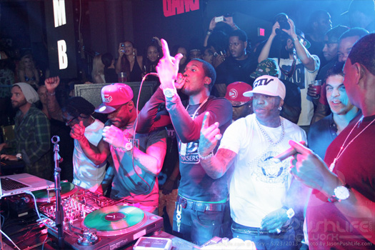 Lil Wayne Attends STORY Nightclub With Meek Mill, Rick Ross & More