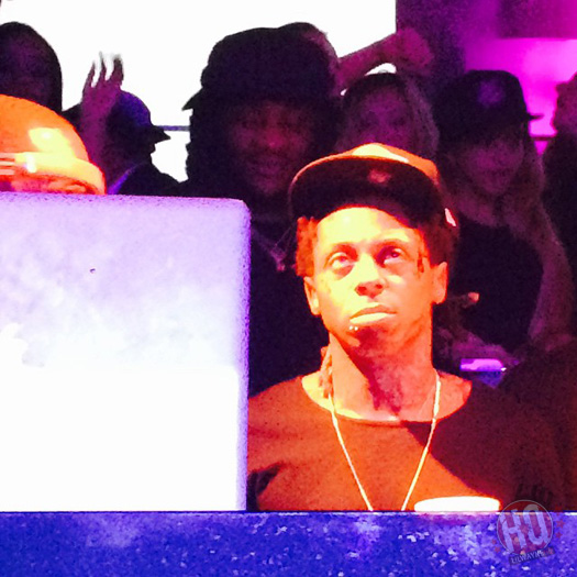Lil Wayne Attends STORY Nightclub In Miami For Chris Brown Birthday Bash