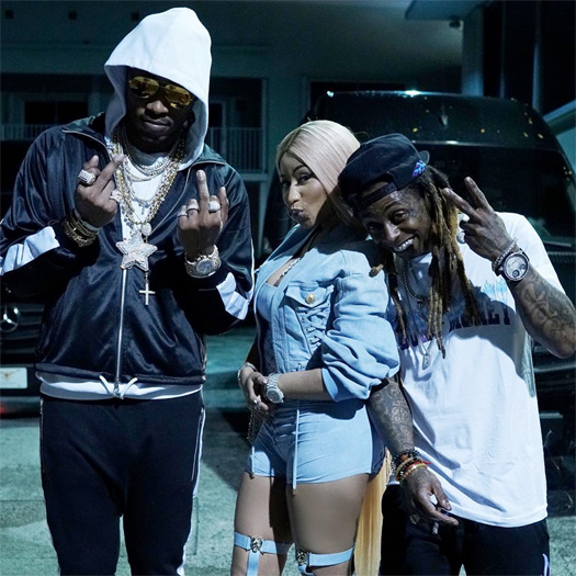 Lil Wayne Parties At STORY Nightclub With Drake, Nicki Minaj, Future, Dave East & More