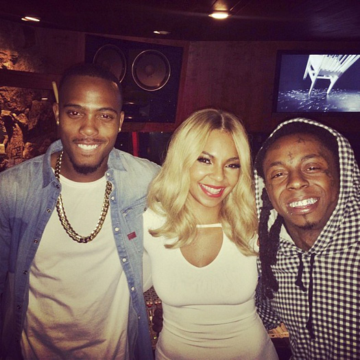 Lil Wayne Hits Up The Studio With B.o.B & Ashanti