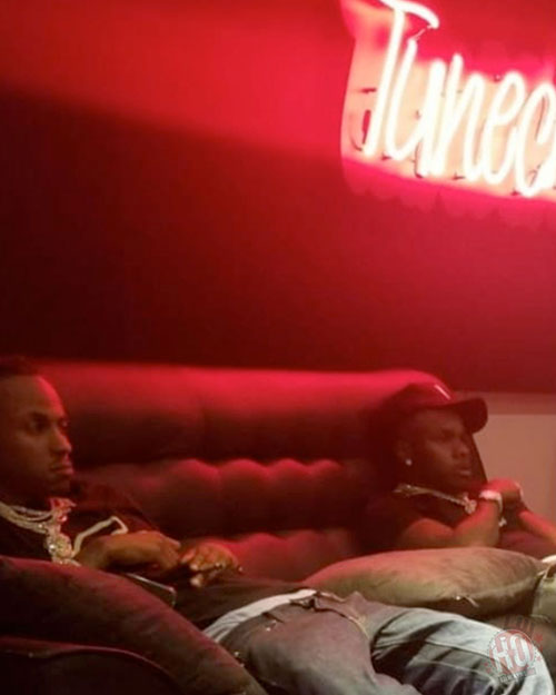 Lil Wayne Hits Up The Studio With DaBaby & Rich The Kid