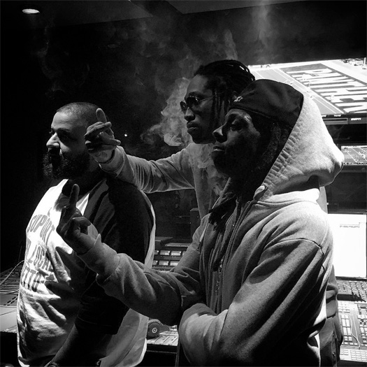 Lil Wayne Hits Up The Studio With Future & DJ Khaled
