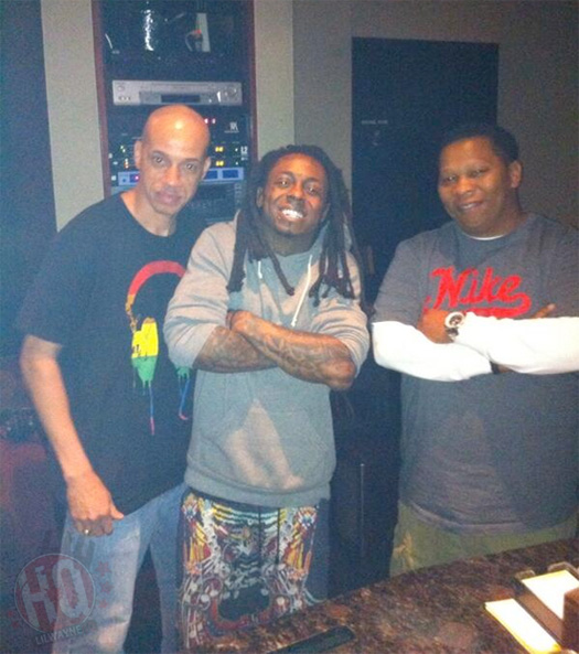 Lil Wayne Hits The Studio With Mannie Fresh To Work On Tha Carter 5