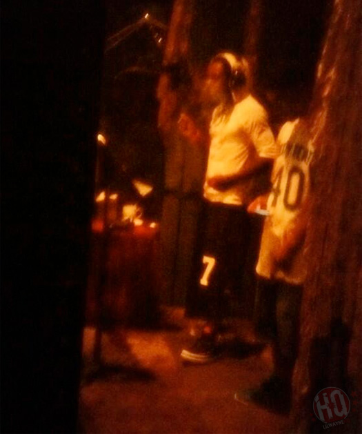 Lil Wayne Hits The Studio With MellowHype