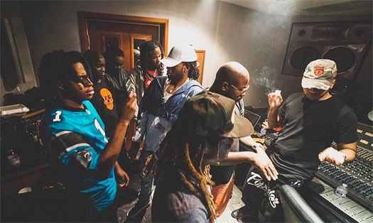 Lil Wayne Has A Studio Session With PARTYNEXTDOOR, Zoey Dollaz, Euro, Kiddo Marv & HoodyBaby