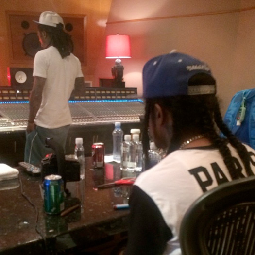 Lil Wayne Hits Up The Studio With His Young Money Artist Flow