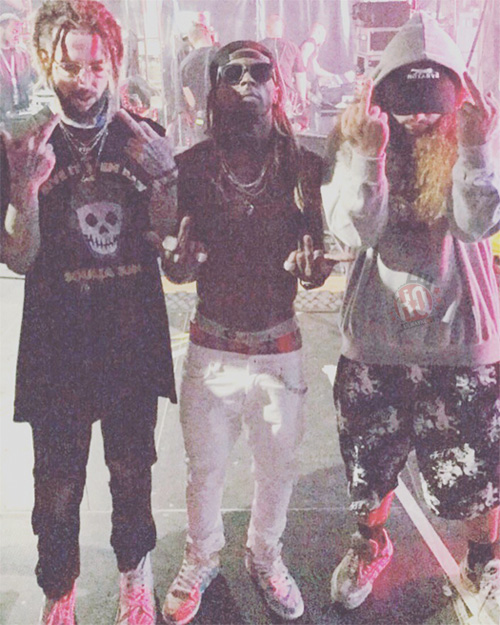 Lil Wayne Brings Out Suicideboys At The 2017 Blockfest Music Festival In Finland, Scrim Praises Wayne
