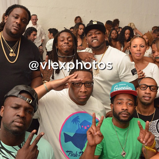 Lil Wayne Attends Supperclub To Celebrate Mack Maine Birthday, A Crip Gang Member Approaches Him