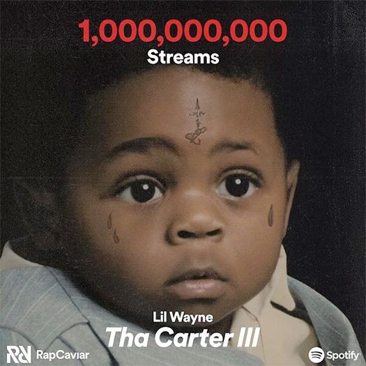 Lil Wayne Tha Carter 3 Album Has Surpassed A Billion Streams On Spotify