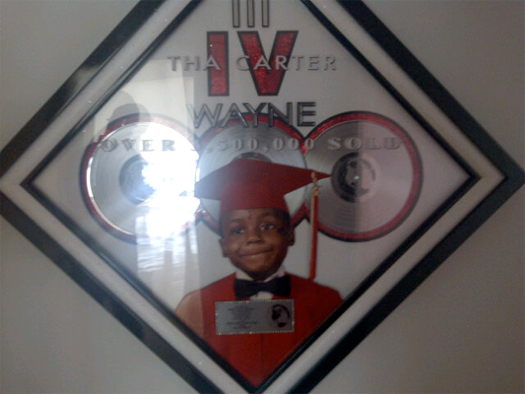 Lil Wayne Tha Carter IV Album Certified Triple Platinum Worldwide