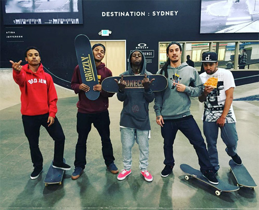 Lil Wayne Hits Up The Berrics Skate Park With Andre Colbert, Bryson Pham, Felipe Gustavo, Spanish Mike & YoYo