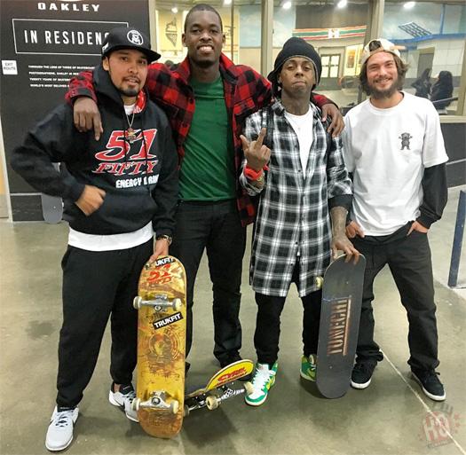 Lil Wayne Hits Up The Berrics Skatepark In Los Angeles For