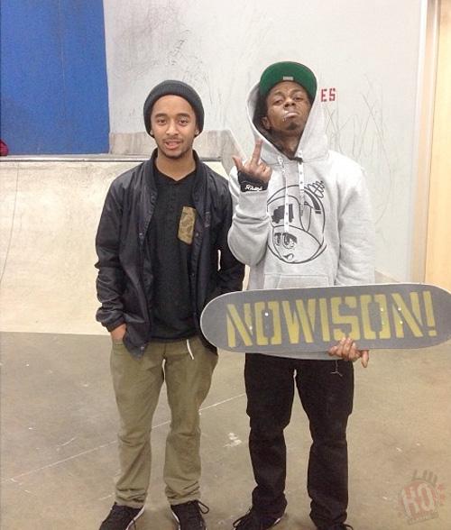Lil Wayne Goes Skating At The Berrics Skatepark In Los Angeles