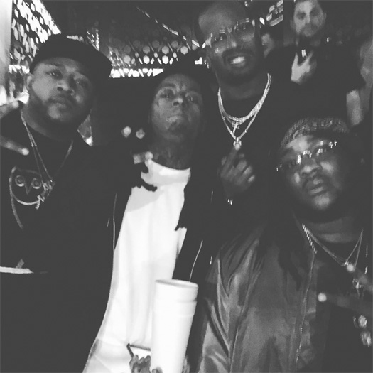 Lil Wayne Hits Up The Grand Nightclub In San Francisco With Super Bowl 50 MVP Winner Von Miller