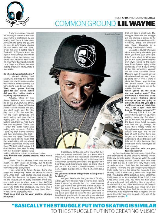 Lil Wayne Interview With The Skateboard Mag