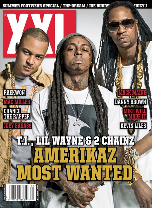 Lil Wayne, T.I. & 2 Chainz Cover July-August Issue Of XXL Magazine