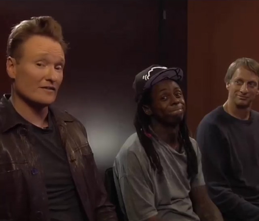 Lil Wayne & Tony Hawk To Be Special Guests On Conan OBrien Clueless Gamer Segment