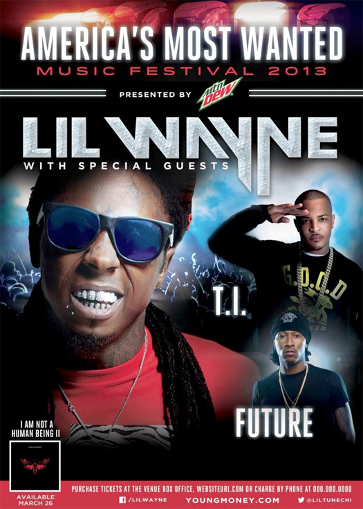 Lil Wayne Announces Tour Dates For His 2013 Americas Most Wanted Music Festival