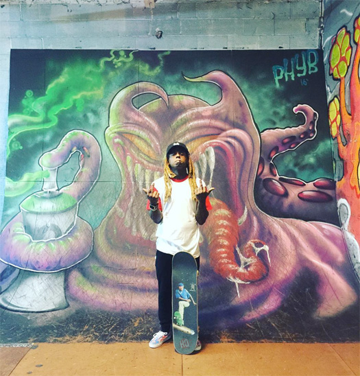 Lil Wayne Hits Up Transitions Skatepark In Michigan & Plays Unreleased Music