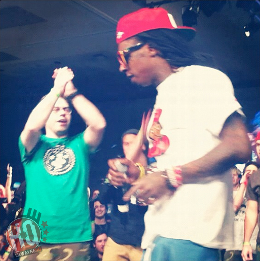 Lil Wayne Surprise Appearance At Trukfit 100K Event