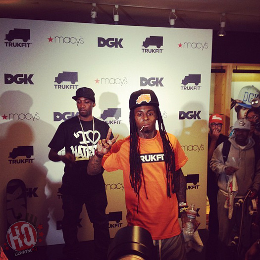 Lil Wayne Launches TRUKFIT Clothing Line In Macys