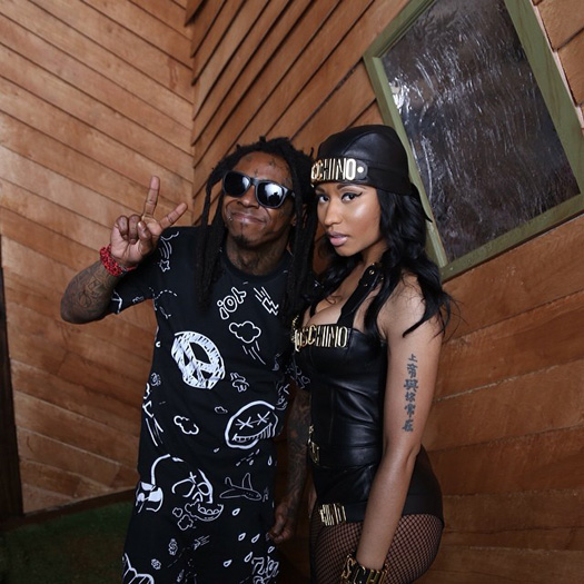 Lil Wayne, Tyga & Nicki Minaj Shoot Senile Music Video