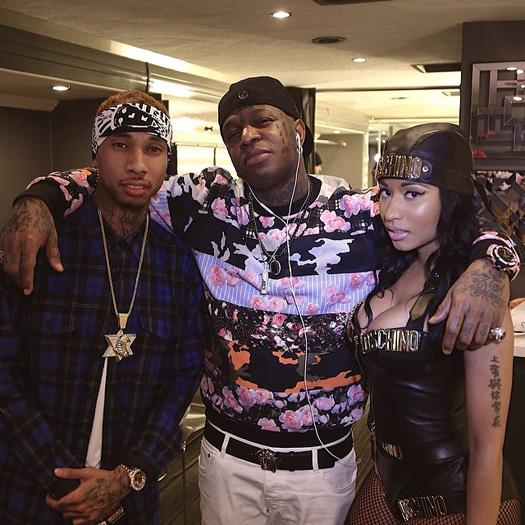 Lil Wayne, Tyga & Nicki Minaj Shoot Senile Music Video