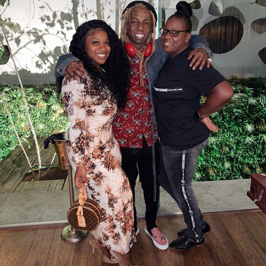 Lil Wayne Goes On Vacation To Barcelona, Spain With His Mother, Daughter & Her Friend