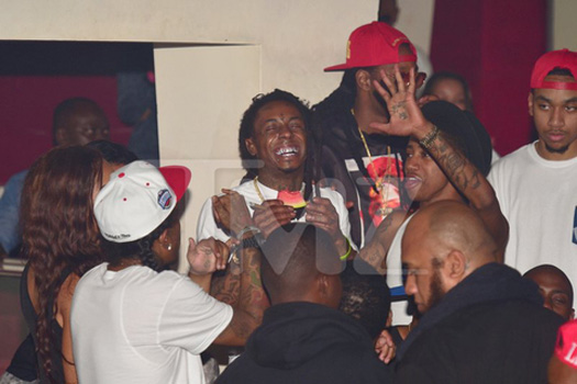 Lil Wayne Attends Velvet Room In Atlanta With 2 Chainz, Flow, Lil Twist & Euro