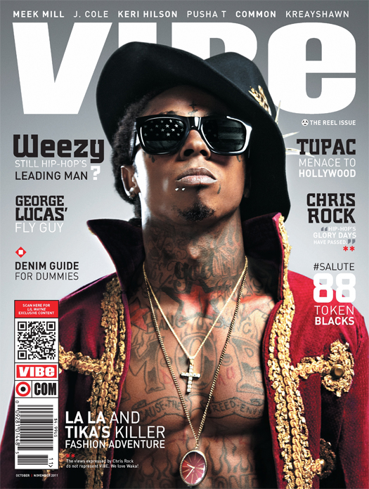 Lil Wayne Covers VIBE Magazines October-November Issue